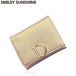 sacchetto di immagazzinaggio del earbud all'ingrosso Sconti Portamonete in oro per borsa di moneta da donna di marca famosa all'ingrosso di marca Portafogli per ragazza Borsa da donna di moda per borse da donna da donna di design 2015