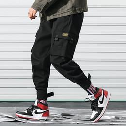 2019 pocket pop Hip Pop Designer Hosen für Männer 2019 Spring Fashion Herrenhose mit vielen Taschen Overall Kleidung Kordelzug Freizeithose M-3XL günstig pocket pop