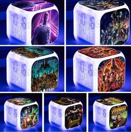 étudiants en électronique Promotion Avenger Alliance 3 Étudiants Réveils pour enfants LED Sept couleurs Numérique Petits Réveils Créatif Cadeau Horloges Électroniques T5I6004