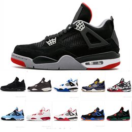6c4ceb4461c9 2019 New Color Bred 4 IV 4s Tattoo Men Basketball Shoes Fire Red White  black Cactus Jack Travis Pizzeria Lightning mens Sports sneakers 8-13 lightning  shoes ...