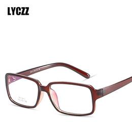 Canada LYCZZ Léger TR90 Hommes Femmes Lunettes Cadre Rétro Grand Optique Lunettes De Prescription Doux Prescription Myopie EyeGlasses Geek cheap lightweight prescription eyeglasses Offre
