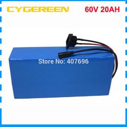 2019 аккумулятор для электрического скутера 60V 20AH литий-ионный аккумулятор Ebike 60V 1500W Электрический аккумулятор для велосипеда 60V 20AH Аккумуляторная батарея с 30A BMS 2A Зарядное устройство дешево аккумулятор для электрического скутера