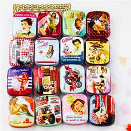 caja de la joyería de la lata Rebajas 12 Unidades / lote MiNi torta caja de hierro caja de almacenamiento de dulces Boda Joyas Casos estaño organizador de cable contenedor Envío Gratis