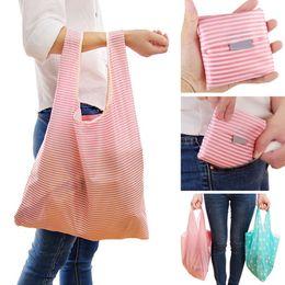 koreanische stickentasche Rabatt Neue 2019 faltbare bequeme nette Dame Foldable Recycle Bag Eco wiederverwendbare Einkaufstasche Obst Gemüse Grocery Large Capacity