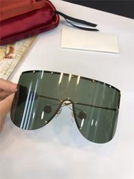 2020 grandi occhiali da sole pilota New fashion designer occhiali da sole classici senza cornice 0488 occhiali da pilota di grandi dimensioni con stile popolare di alta qualità bestseller tipo di raccordo di protezione grandi occhiali da sole pilota economici