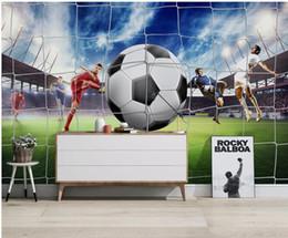 Schlafzimmer fußball tapete online-3D Wallpaper World Cup 3d Fußballstadion Hintergrund Wanddekoration Malerei TV Hintergrund Schlafzimmer Foto Tapeten