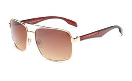Marcas de gafas de sol de moda online-Marca de moda de alta calidad 9913 gafas de sol para hombres y mujeres gafas de sol de moda de metal salvaje Envío gratis po88