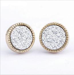 2019 ouro preto brincos de contas brincos Gelo de prata para fora de alta diamante cluster zircon rodada parafuso de volta rodada brincos homens e mulheres hip hop jóias