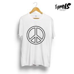 90628a804da0 PEACE SYMBOL PRINTED MENS GRAPHIC T-SHIRT GIRLS UNISEX LOVE NOT WAR ICON  TUMBLRFunny free shipping Unisex Casual Tshirt