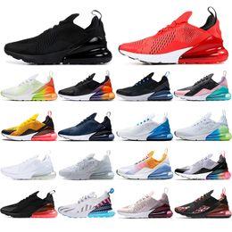 2019 scarpe kevin durant scarpe basse Nike air max 270 calzini gratuiti NUOVO cuscino Designer Sneakers Scarpe uomo Scarpe da ginnastica CNY Triple Nero BARELY ROSE Tè Berry Tiger marrone Uomo Donna Scarpe da corsa