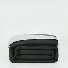 Couette en coton jumelé en Ligne-Housse de couette 100% coton blanche et noire 150 * 200/200 * 230/220 * 240cm sac de couchage double complet double housse de couette solide