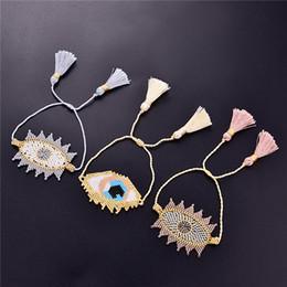 Moda turca on-line-SEDmart Moda Go2boho Miyuki Pulseiras para Mulheres Ouro turco Evil Eye Bracelet Insta Pulseras Handmade boho jóias