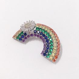 porcos rápidos Desconto Moda Ponte De Arco-íris Broches Senhoras de Design de Luxo Colorido Broche Womens Dress Broches Moda Hip Hop Jóias Amante Presente