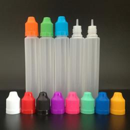 2019 bouteilles en plastique vapeur liquide Compte-gouttes en plastique liquide de bouteille de compte-gouttes de forme de long stylo de 30ml LDPE E avec le cap Childproof pour le jus de Vape E bouteilles en plastique vapeur liquide pas cher