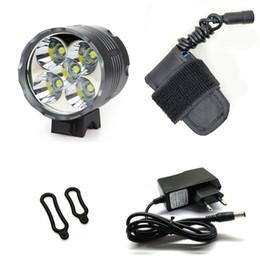 cree teile Rabatt WasaFire 7000 Lumen LED Fahrrad Licht Lampe 5 * T6 LED Scheinwerfer Laterne Fahrrad Licht Scheinwerfer + 5200 mAh Batterie Pack letzten 4 Stunden