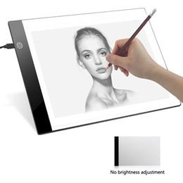 Digitale malerei für kinder online-A4 Digitale Zeichnung Grafikkarte LED Light Box Tracing Copy Board Malerei Schreibunterlage Tisch für Kinder Geschenk kein Dimmen