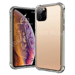 manijas de los casos de iphone Rebajas Fundas de teléfono transparentes para iPhone 11 XS MAX XR X 8 Plus Note 10 Super antidetonante TPU suave Cubierta de protección transparente Funda a prueba de golpes