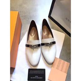 Ting2594 406419 Дышащие мягкие кожаные белые туфли Кроссовки Классическая обувь Skate Dance Балетки на плоской подошве Мокасины Эспадрильи на танкетке от