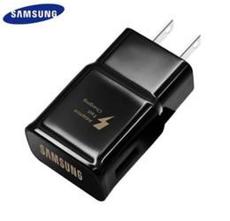Ladegerätadapter weiß online-Samsung S6 S8 S9 plus Note9 Schnellladegerät 9V1.67A Schnelladapter EU / US Note8 S9 S8 C5 C7 C9 Rückseite Weiß / Schwarz