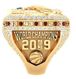 anéis planos de prata Desconto 2018 2019 Raptors Basketball Souvenir Campeonato Anel Fan presente Atacado 2020 transporte da gota