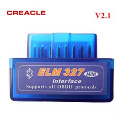 2019 software chave de carro Nova Chegada ELM327 V2.1 Leitor de Código OBD2 Bluetooth Ferramenta de Diagnóstico Super Mini ELM327 OBD-II OBD Scanner Azul cor para Android