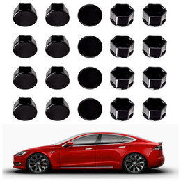 Para Tesla Model 3 rodas Nut Covers / Lug Nut Covers - Preto Brilhante de Fornecedores de tampa da tampa da tecla preto