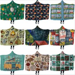 chevron baby decken Rabatt Picknick-Decke mit Kapuze Warm Camping Car Throw Blanket mit Kapuze Sherpa Fleece-Decken Wrap Fashion Kinder Camper Kapuze Decke LT1345
