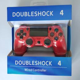 2019 ps spielen DoubleShock PS4 4 Wired Controller Game Joysticks für PS 4 Controller Game Zubehör Gamepad für Sony Play Station 4 günstig ps spielen