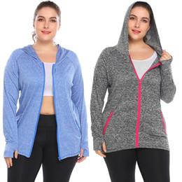 Ropa, Zapatos Accesorios Entrenamiento para mujeres Yoga Zip Up Slim Fit Mottled Casual Hoodie Plus Sizenew desde fabricantes