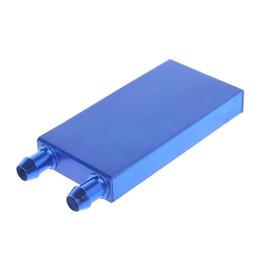 2019 жидкостные компьютеры Блок водяного охлаждения алюминиевого сплава для радиатора компьютера жидкостного радиатора 40 * 80mm дешево жидкостные компьютеры