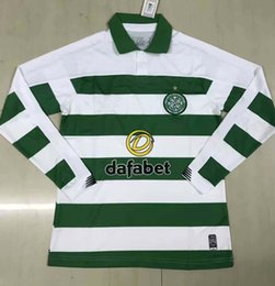 Camisas de futebol marrom on-line-2019 2020 celta manga comprida camisas de futebol GRIFFITHS BURNS BROWN 19 20 camisa de futebol completo S-2XL