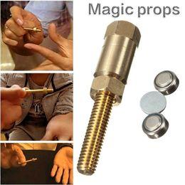 Incrível Magia Props Autorotation Porca Rotativa Off Parafuso Parafuso Close Up Truque Brinquedos Magia Show Partes Pequeno Presente de Fornecedores de dinheiro por atacado