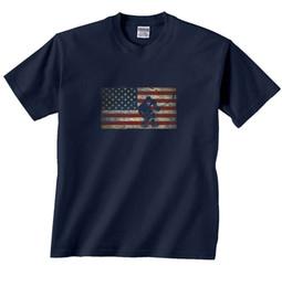 camicie hockey americane Sconti T-Shirt Hockey Bandiera Americana Divertente spedizione gratuita Unisex Casual tee regalo