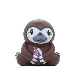 Детские игрушки онлайн-Декомпрессия медленный отскок маленький ленивец мягкая мягкая симуляция ленивец мультфильм Squishies игрушка дети медленно поднимаясь сжимать игрушку