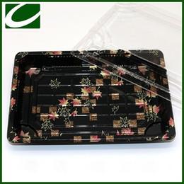 Contenitori di plastica eliminabili di plastica dei contenitori di imballaggio dei sushi di stampa del fiore da usa e getta bento all'ingrosso fornitori