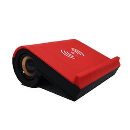 наименьшее зарядное устройство для телефона Скидка Новый 3 в 1 беспроводной зарядки Bluetooth динамик сабвуфер мини небольшой аудио мобильный телефон Bluetooth динамик Держатель телефона и зарядное устройство