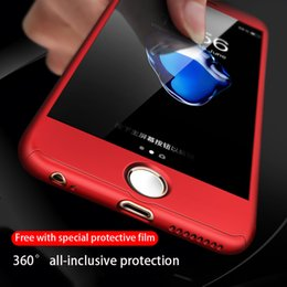caixa de plástico macio e transparente Desconto Para iphone xs caso de telefone máximo xr 11Pro novo 360 ° filme all-inclusive telefone rígido caso de envio temperado