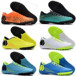 2019 Nuove migliori tacchetti da calcio per uomo in erba sintetica a buon mercato per bambini scarpe da calcio per interni scarpe da calcio basse VAPORX 12CLUB IN TF scarpe da calcio nuovo arrivo da