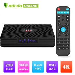 2019 M9S W6 Lecteur multimédia Android 7.1 TV 4K UHD Media Player Amlogic S905W ARM quad-core Cortex-A53 CPU 64 bits DDR3 2 Go 16 Go 2.4G WiFi IPTV 3D 4K ? partir de fabricateur
