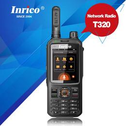 Gps сенсорный экран walkie talkies онлайн-SIM GPS Wifi 4G network walkie talkie T320 touch screen Handheld intercom transceiver mobile phone radio walkie talkie