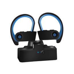 2019 ecouteurs apple boite cristal Casque Bluetooth sans fil écouteurs TWS 5.0 dans écouteurs pour Samsung pour iPhone avec crochet auriculaire et boîte de chargement