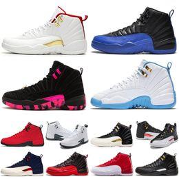 Alas de zapatos de moda online-Zapatillas de deporte de diseñador para hombre Zapatos de baloncesto 12 12s blanco gimnasio rojo Gamma Blue Milan Barons maestro toros 2019 atletic nuevos hombres de moda Entrenador deportivo