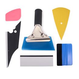Getöntes auto pvc vinyl online-6 stücke Fenstertönung Werkzeuge Auto Carbon Folie Vinyl Wrap Film Rakel Tool Kit Motor Auto Aufkleber und decals Wrapping Schaber Set