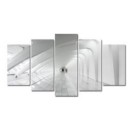5 Pcs Combinaisons HD Abstrait Fantastique Espaces Temps Tunnel Modèle Sans Cadre Toile Peinture Décoration Murale Imprimé Peinture À L'huile affiche ? partir de fabricateur