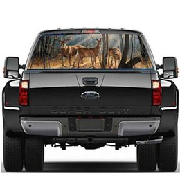 family window decals Coupons - DEER FAMILY Window Graphic Tint Decal Sticker Truck for Car