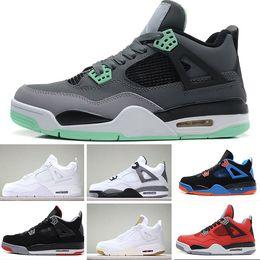 quality design 3864e c20c9 Nike Air Jordan 4 Retro Mit Box 2018 Hohe Qualität 4 s Mens Casual Schuhe 4  s Weiß Zement Schwarz Rot 4 Superman Mode ShoesSize 41-47