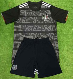 9f57a1b43a3 Mexico National Team 2019 2020 H.LOZANO H.HERRERA R.MARQUEZ CHICHARITO  A.GUARDADO Soccer set Jersey black gold Cup football shirt pants