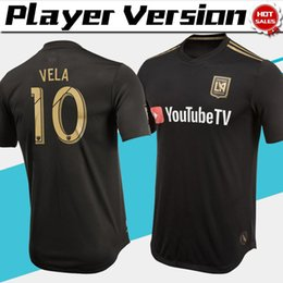 330c7f721 MLS Player version Los Angeles FC Home Soccer Jersey 2019  10 VELA Los  Angeles FC black soccer shirt  9 ROSSI LAFC Football uniforms