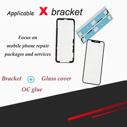 logo apple back door Sconti Adatto per iPhone X riparazione rapida e sostituzione di quattro set, staffa, coperchio in vetro, adesivo OC, altissima definizione, orig di alta qualità