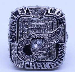 sport di rilievo Sconti Trasporto libero all'ingrosso all'ingrosso reale di alta qualità 2008 anello di campionato di Stanley della tazza dell'uomo di sport dei monili degli uomini di modo